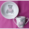 MUG 2 ANSES ET COUPELLE COMPOTE OURSON ROSE