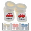 chaussons-bebe-voiture-rouge-prenom-personnalises
