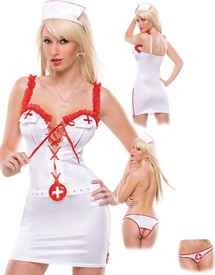 Costume / Déguisement d\'infirmière - 3 pièces