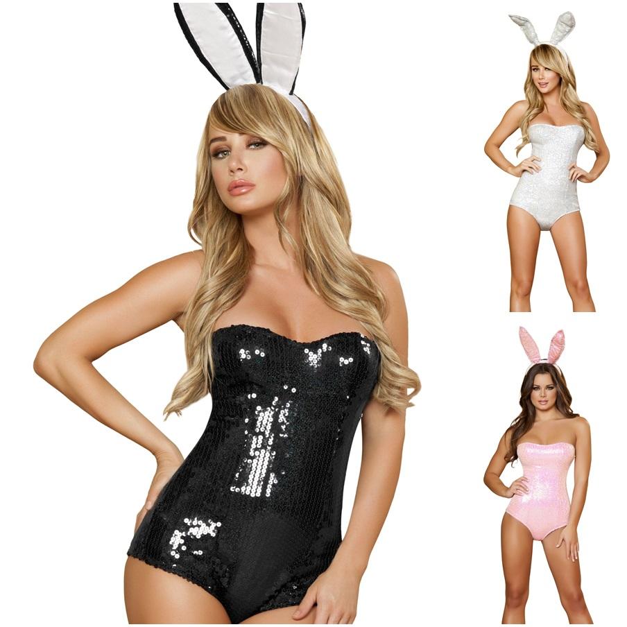 Costume - Déguisement de bunny lapine sexy sequins - ROMA