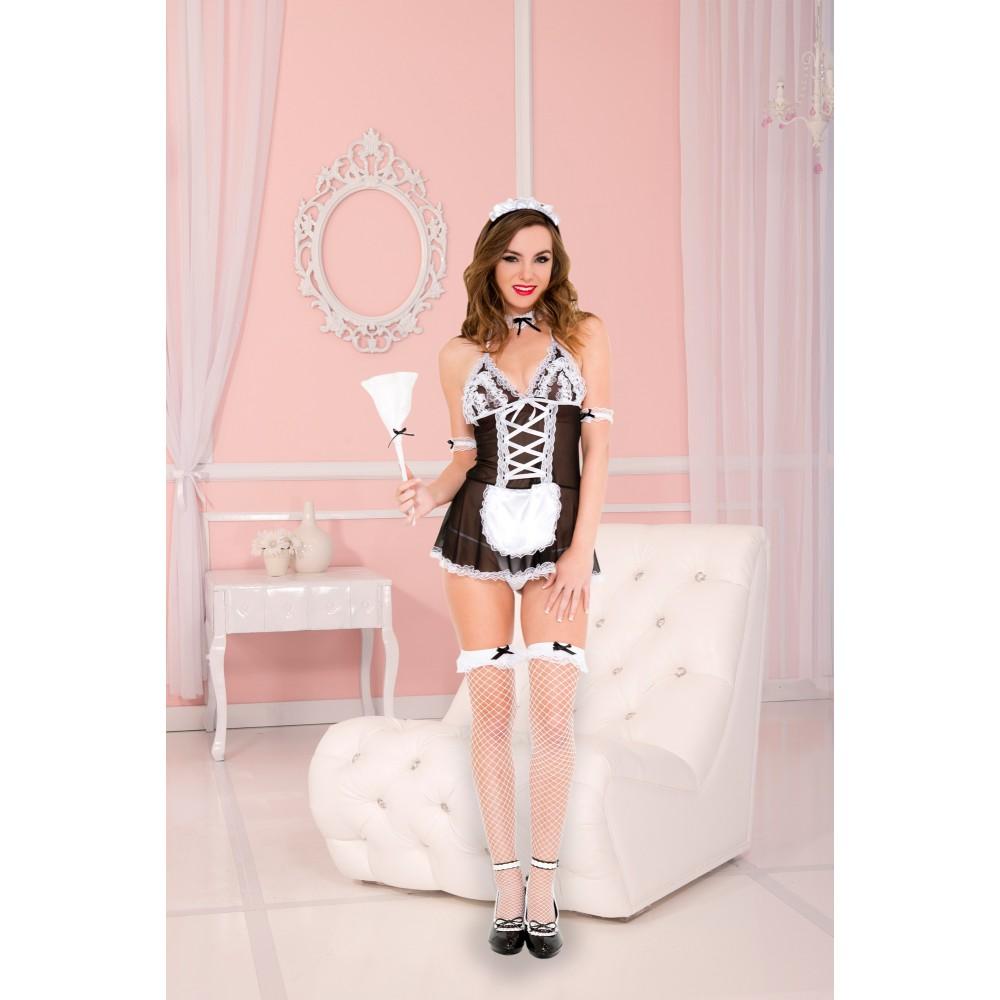 Costume de soubrette 4 pièces Maid Bombshell