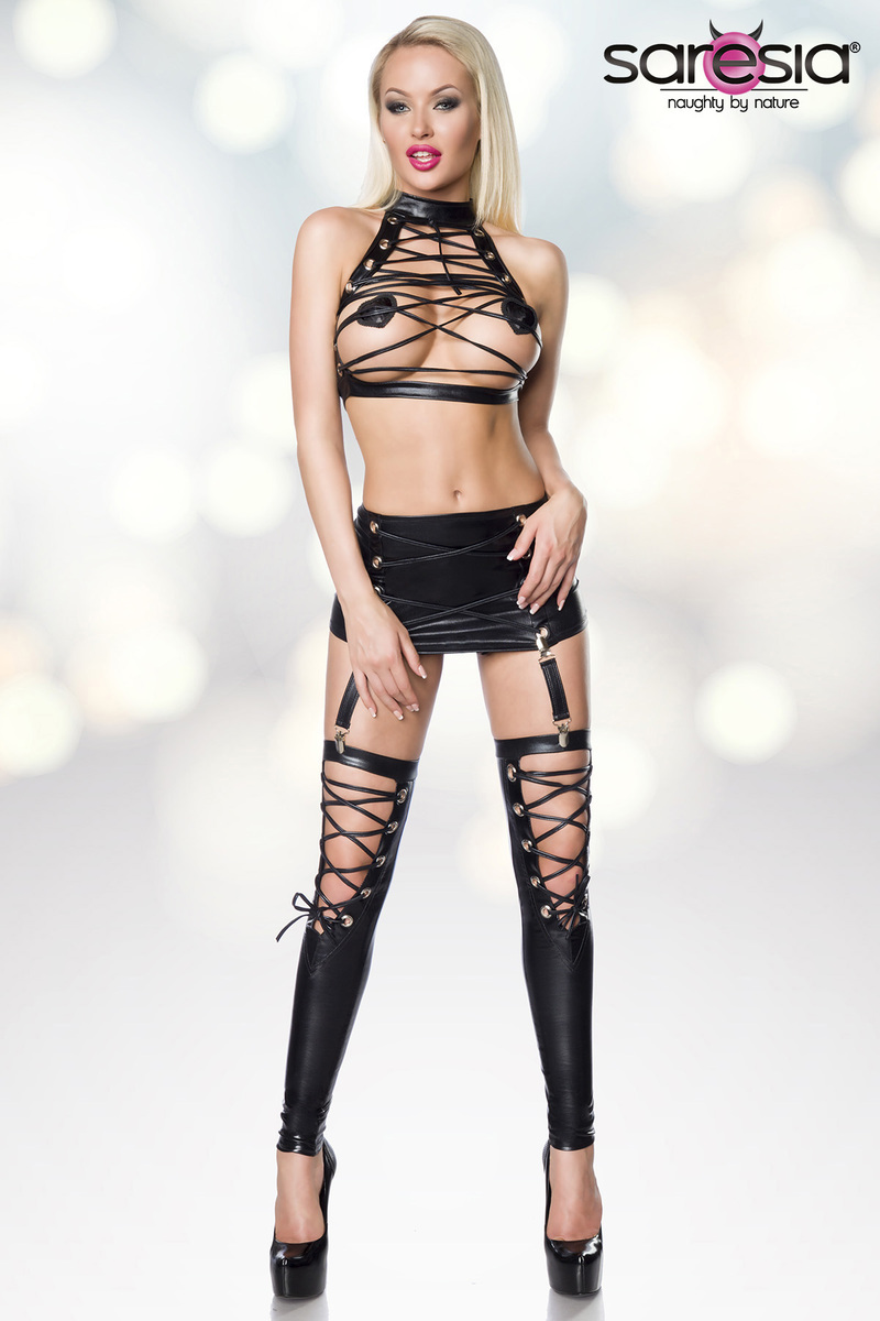 Ensemble wetlook gogo clubwear - Saresia