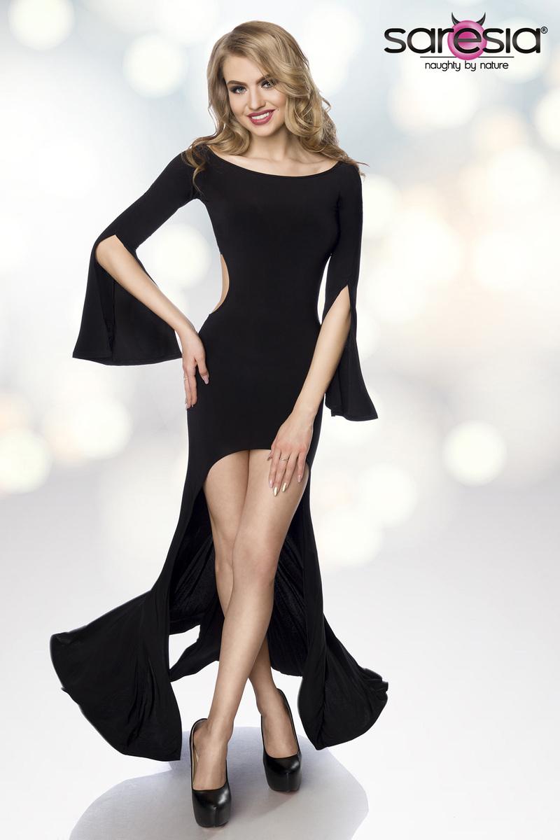 Robe longue ajourée gogo clubwear - Saresia