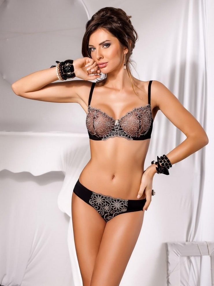 Ensemble lingerie Soft Noir VB10169 - VENA