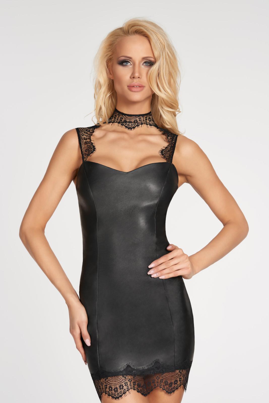 Mini robe wetlook noire Nazca  - 7Heaven
