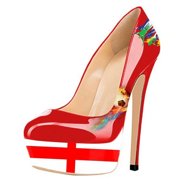 Chaussures à talon et plateforme drapeau Angleterre