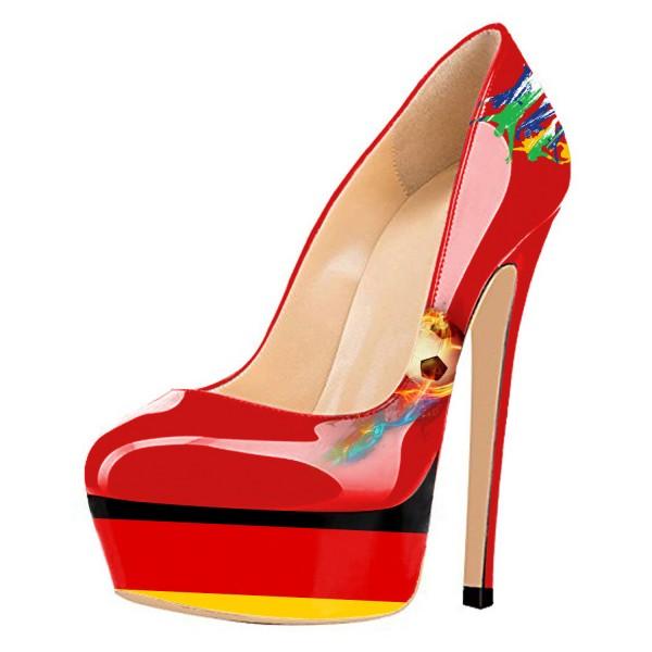Chaussures à talon et plateforme drapeau Allemagne