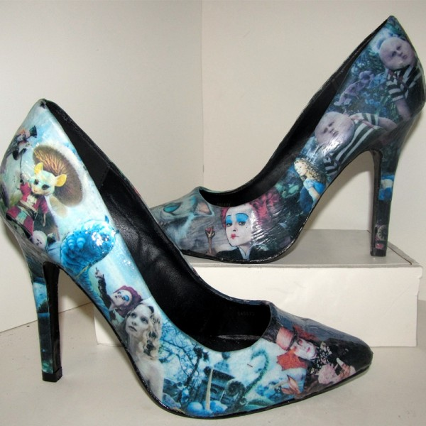 Chaussures à talon Alice aux Pays des Merveilles Tim Burton