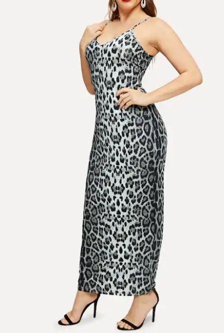 Robe caraco imprimée léopard - Grandes tailles
