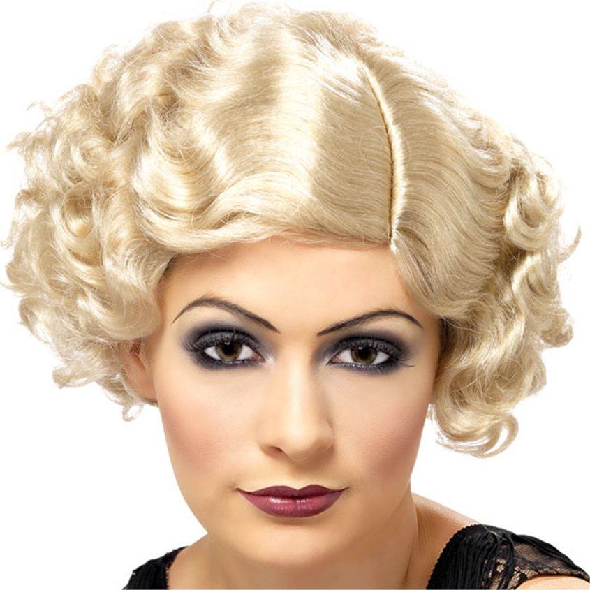 Perruque blonde des années 1920