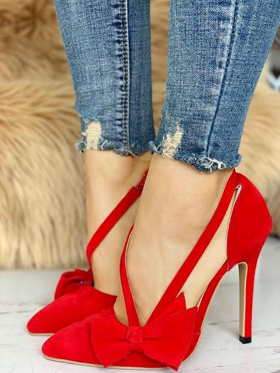 Chaussures à talon avec noeud