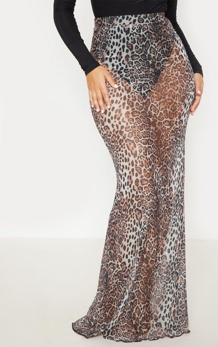 Jupe longue à imprimé léopard