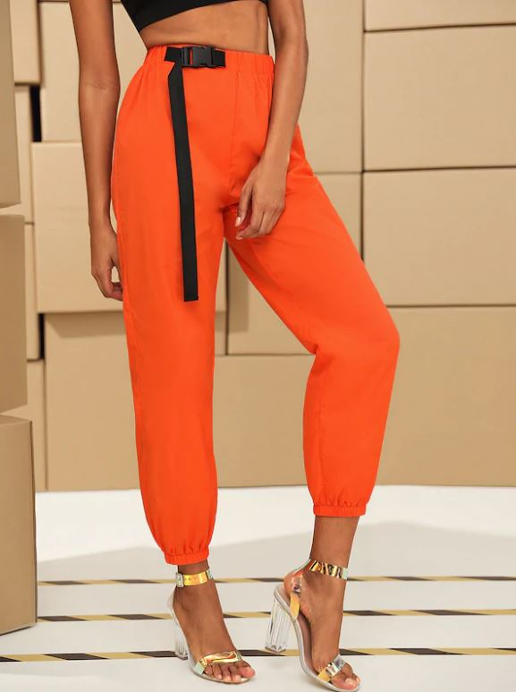 Pantalon Avec Agrafe - Orange