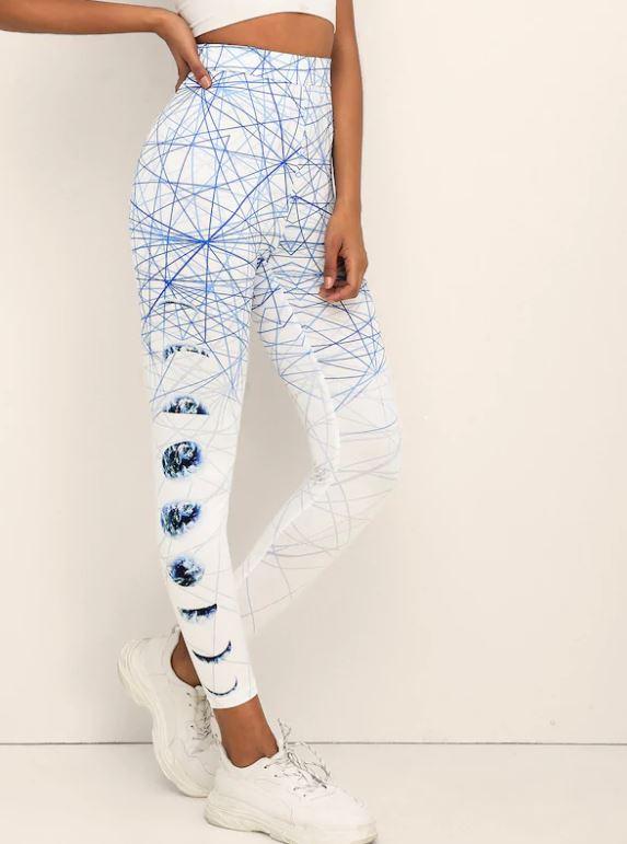 Leggings À Motif Géométrique - Blabc