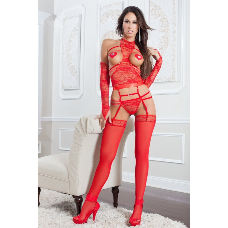 Ensemble lingerie sexy RED - G World