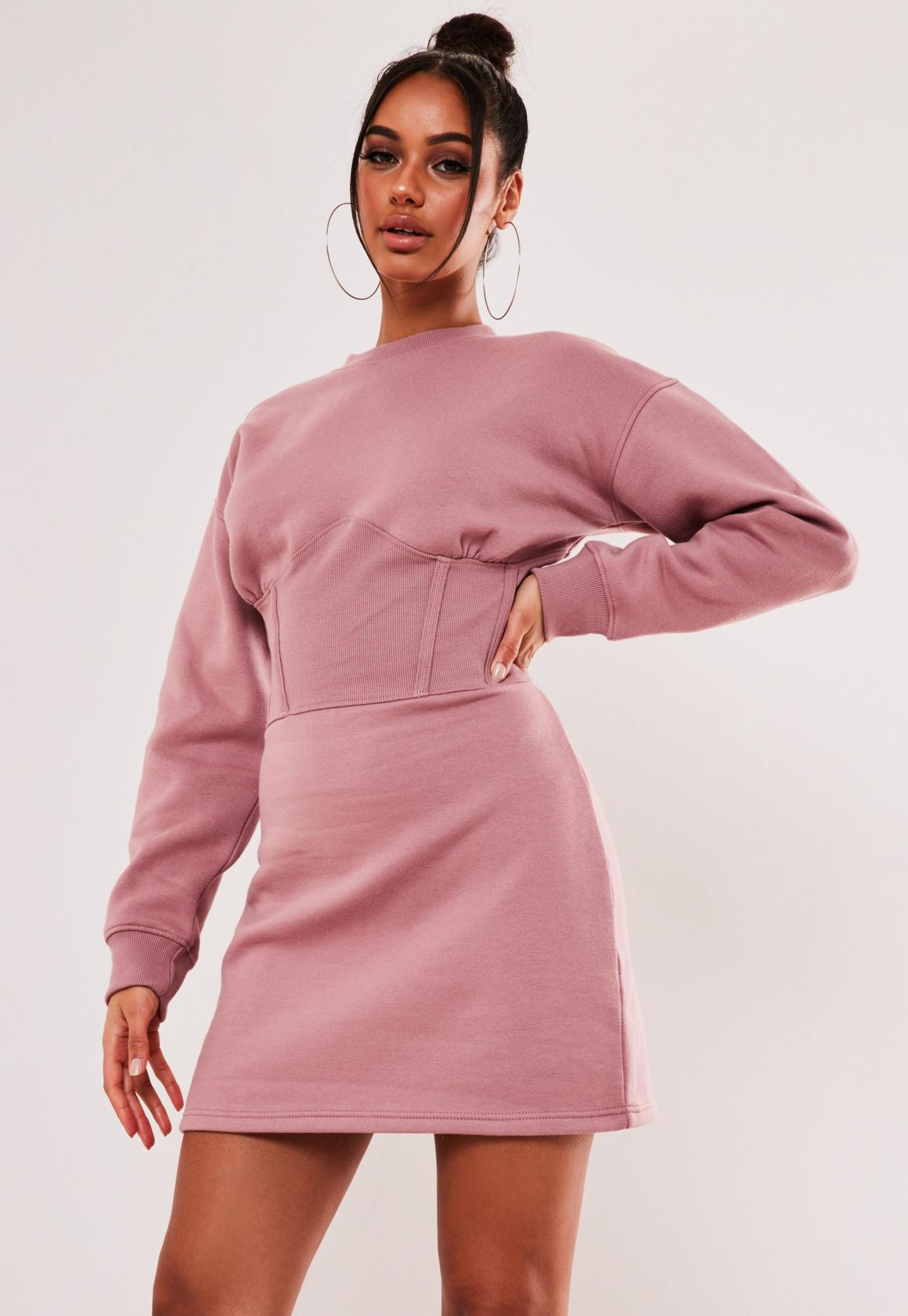 Robe sweat oversize - Rose