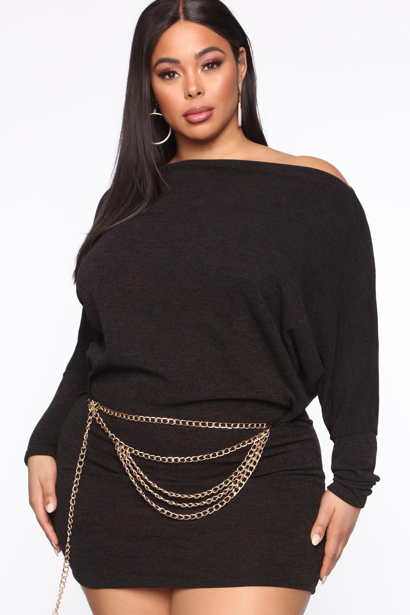 Mini-Robe Never Waisting Time - Noir - Grandes tailles