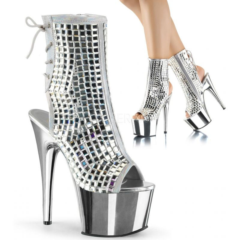 Bottines ADORE-1018DBM - Argent - Pleaser