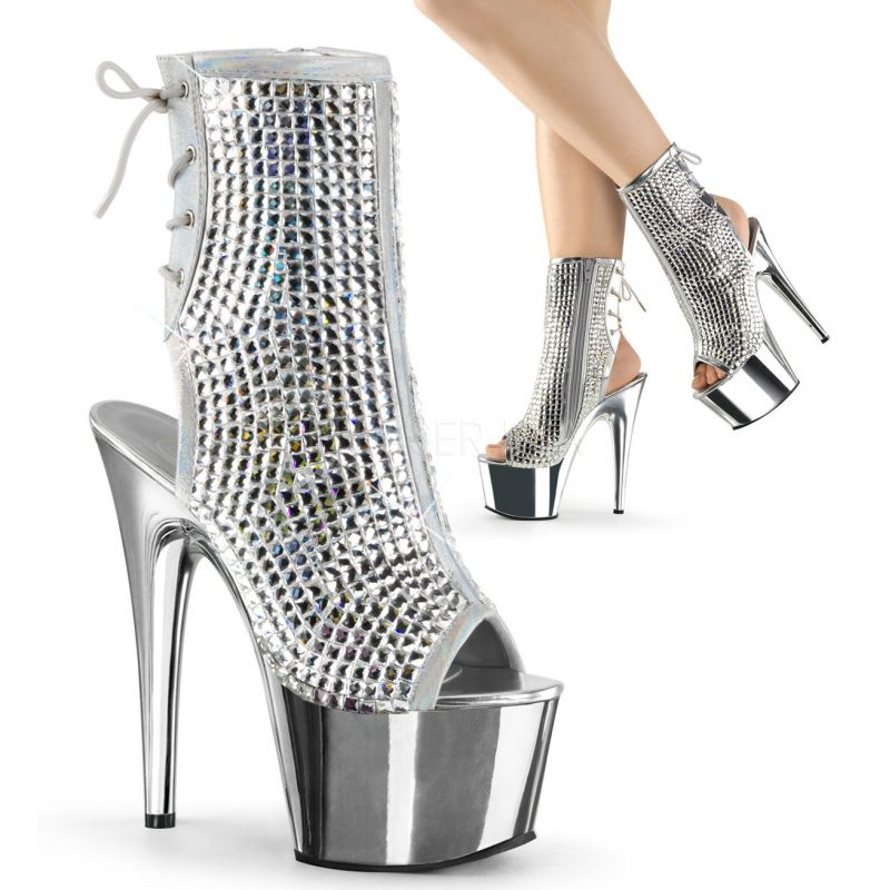 Bottines ADORE-1018DCS - Argent - Pleaser