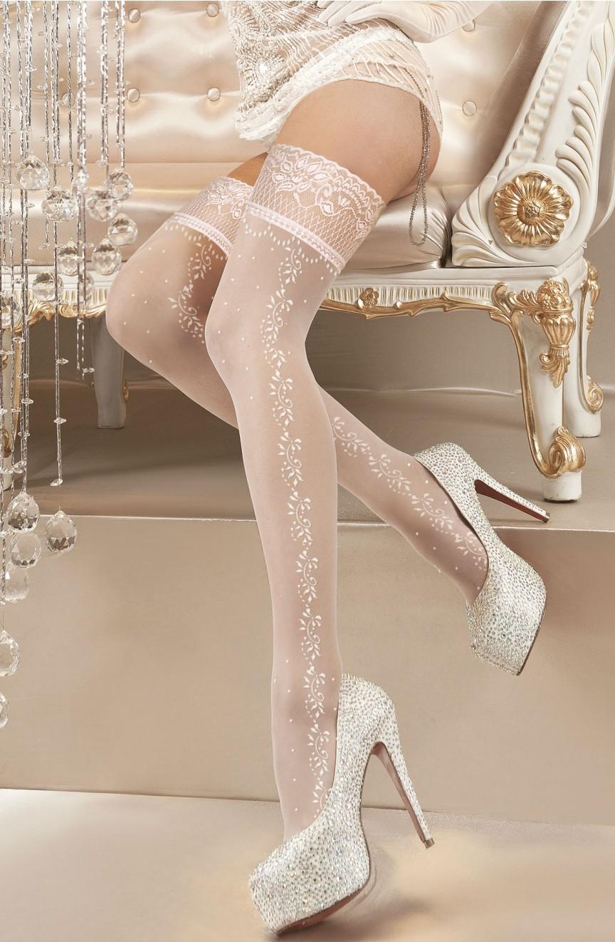 Bas brodés blancs 119 - Ballerina