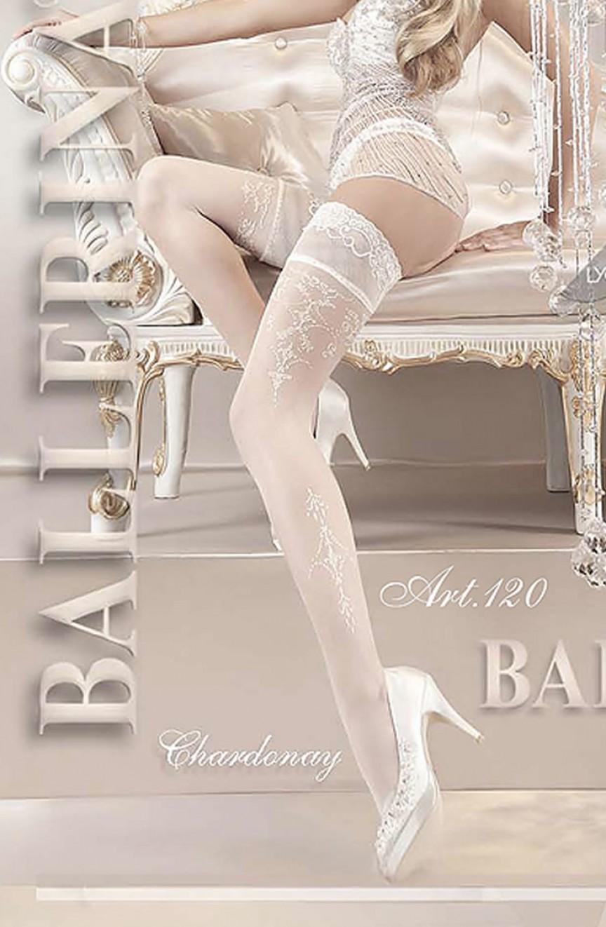 Bas blancs brodés 120 - Ballerina