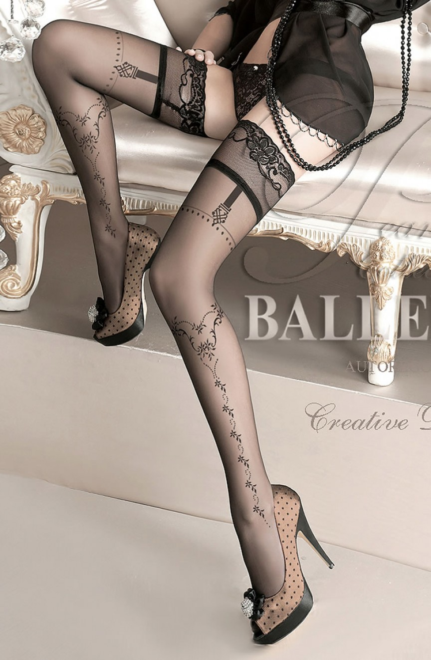 Bas noirs autofixants 127 - Ballerina