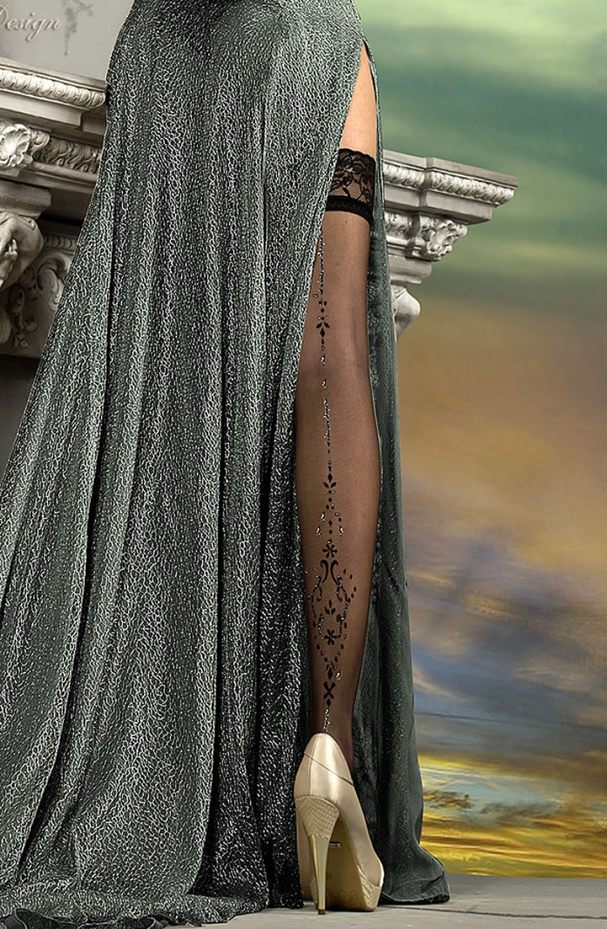 Bas noirs autofixants 211 - Ballerina