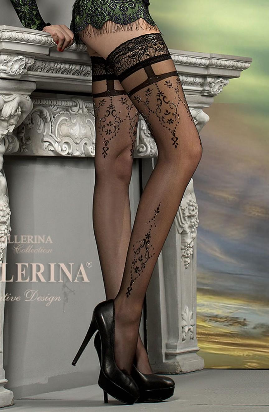 Bas noirs autofixants 212 - Ballerina