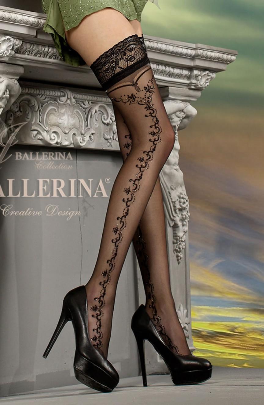 Bas noirs autofixants 216 - Ballerina