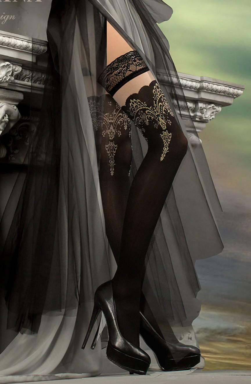 Bas noirs autofixants 220 - Ballerina