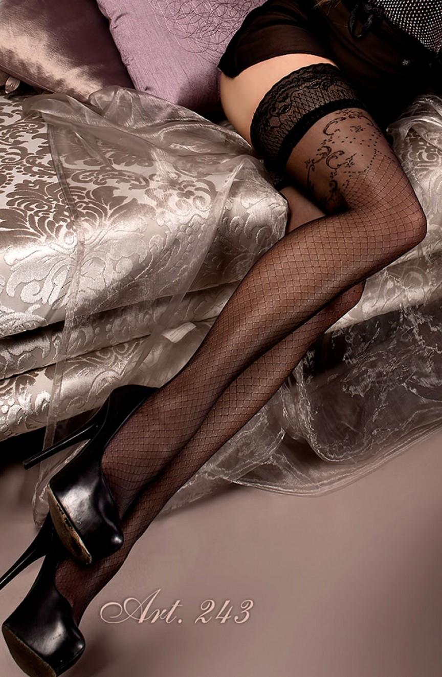 Bas noirs autofixants 243 - Ballerina