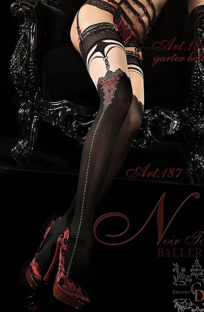 Bas noirs autofixants 187 - Ballerina