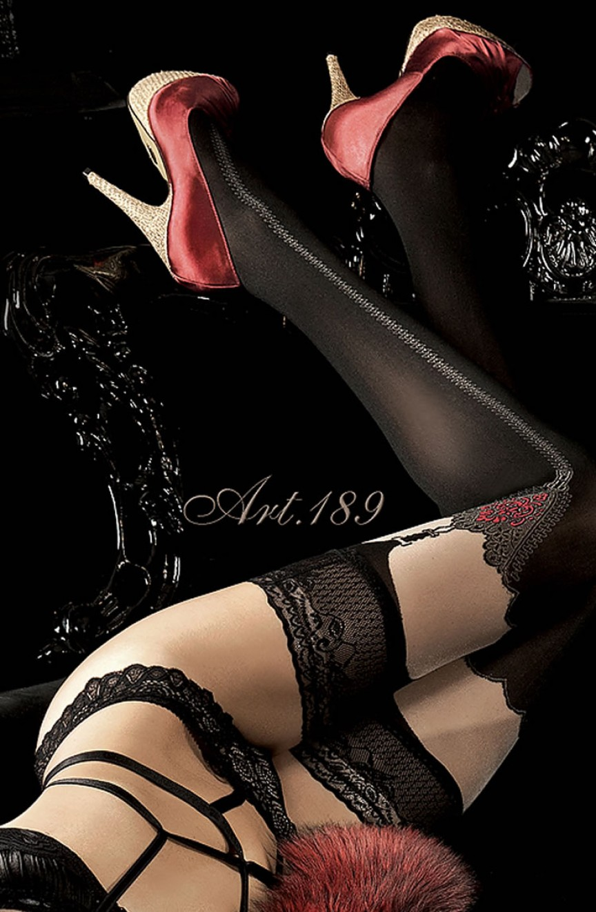 Bas noirs autofixants 189 - Ballerina
