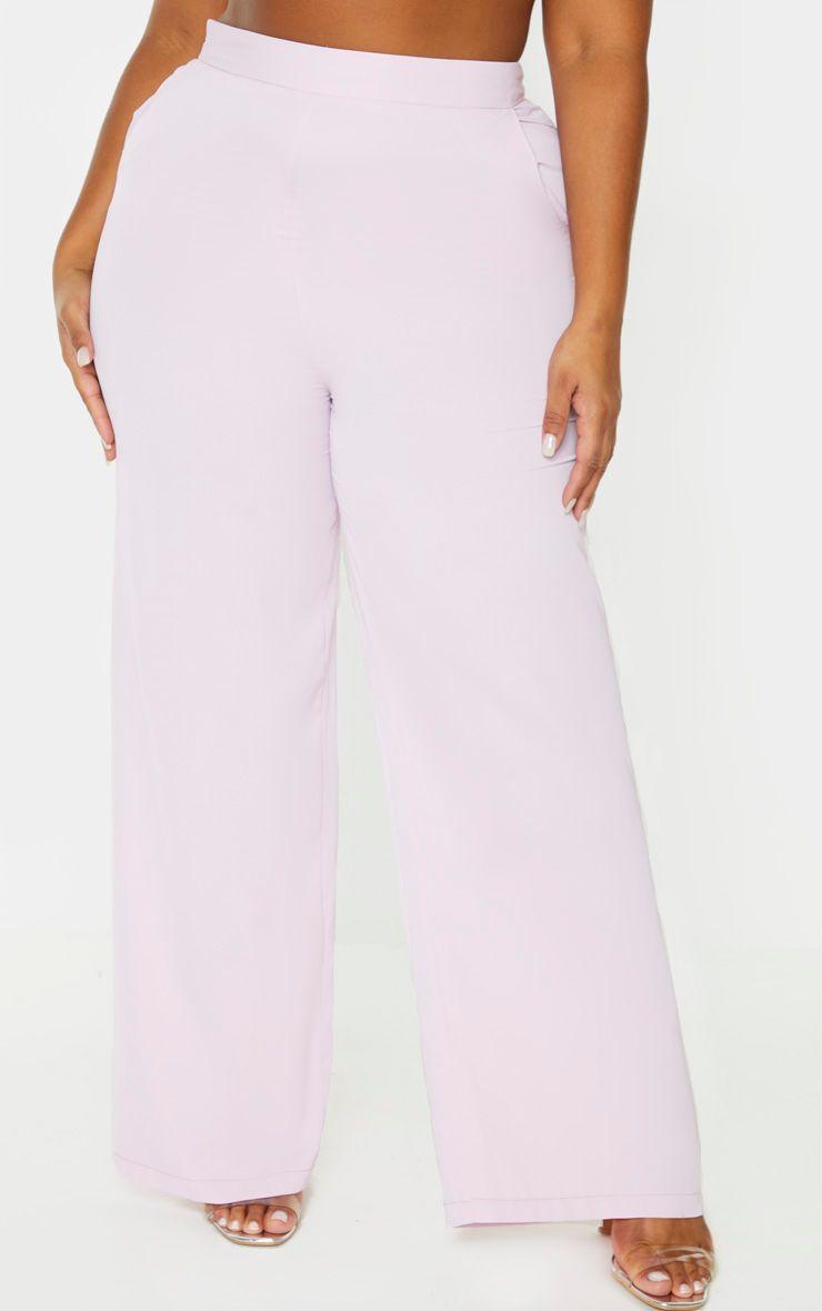 Pantalon lilas très évasé - Grandes Tailles