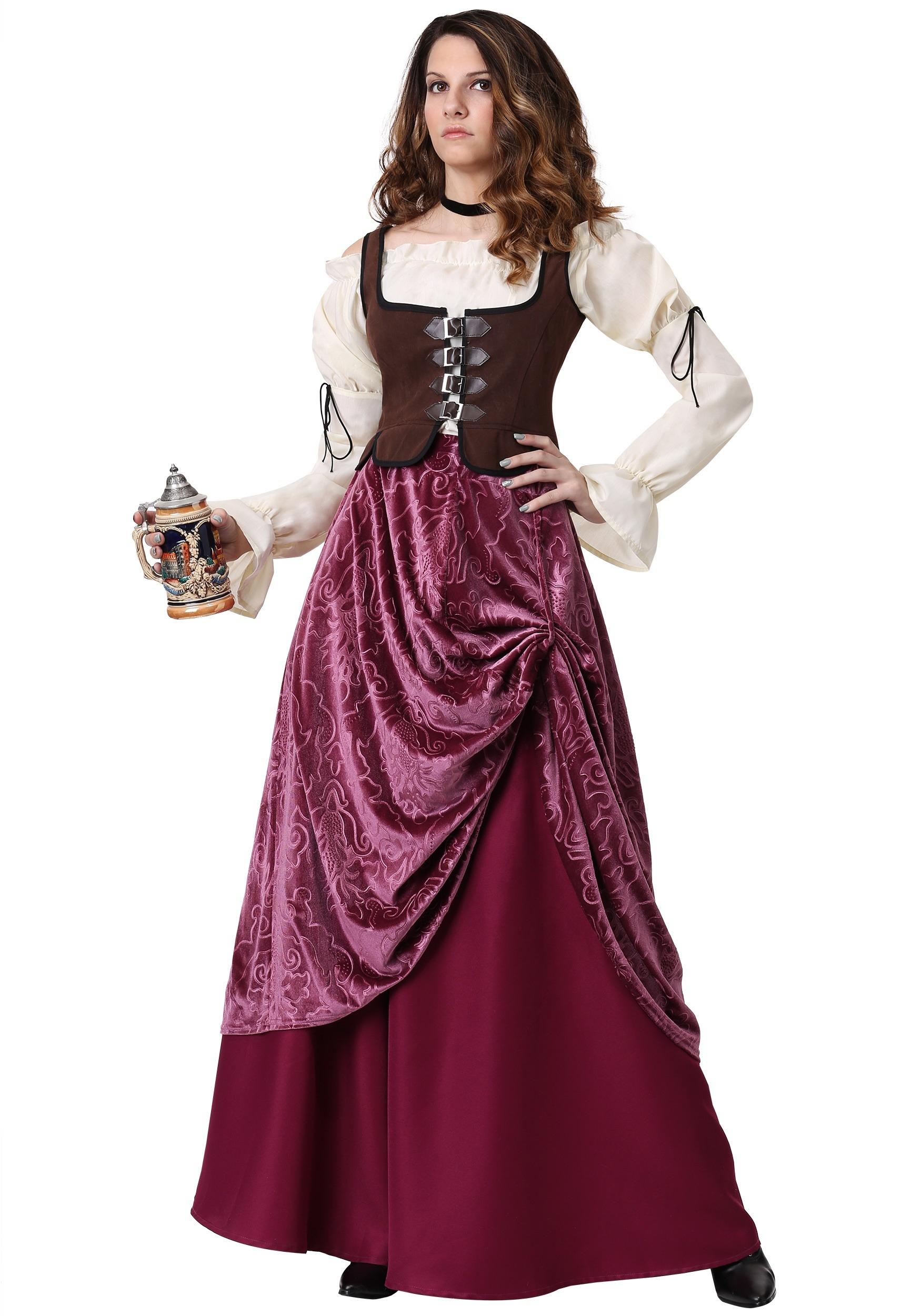 Costume Serveuse de taverne du Moyen-äge
