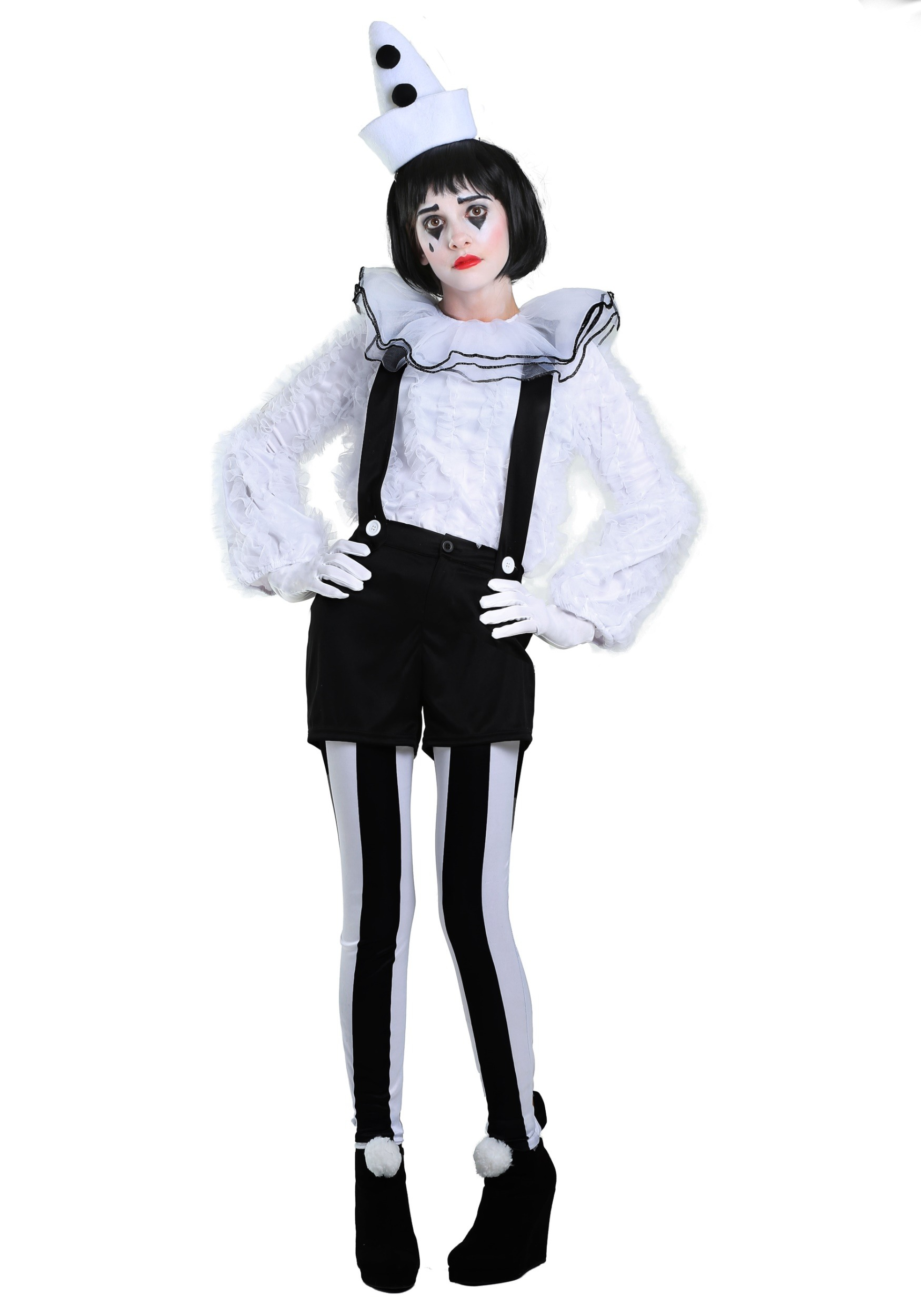 Costume de clown Pierrot