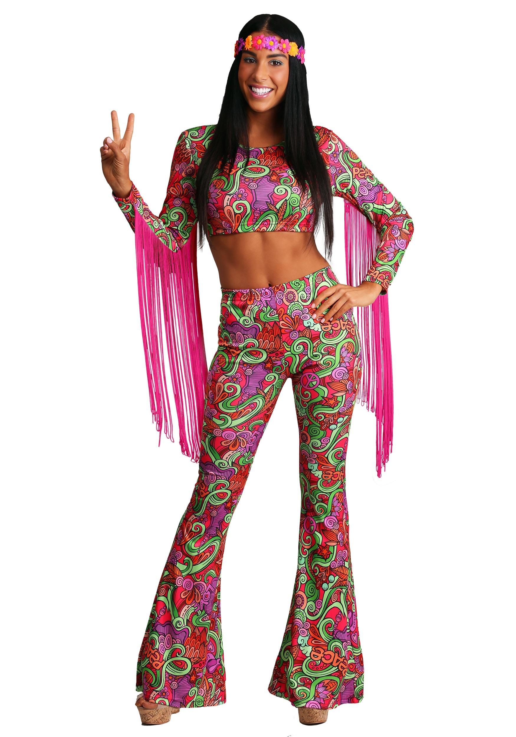 Déguisement PEACE Hippie Années 70