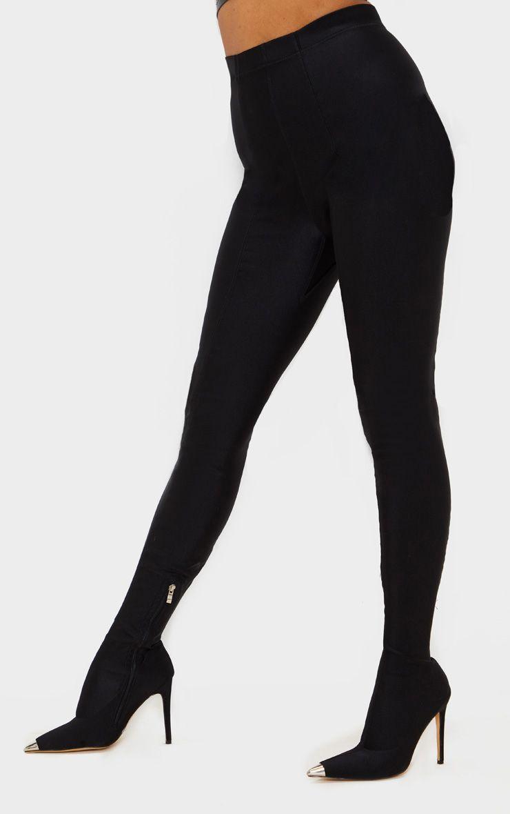 Bottes-pantalon à bout pointu - Noir