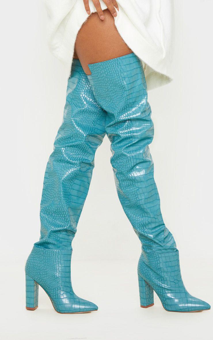 Cuissardes style western - Bleu