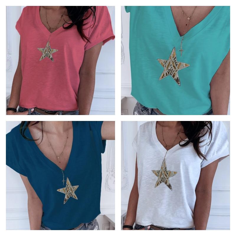 T-shirt à paillettes en forme d\'étoile