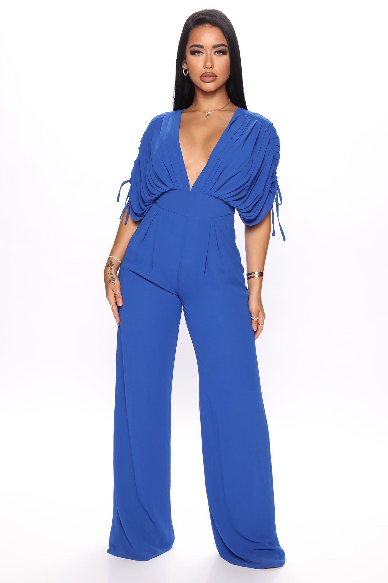 Combinaison Dig Deep V-Neck - Bleu Royal