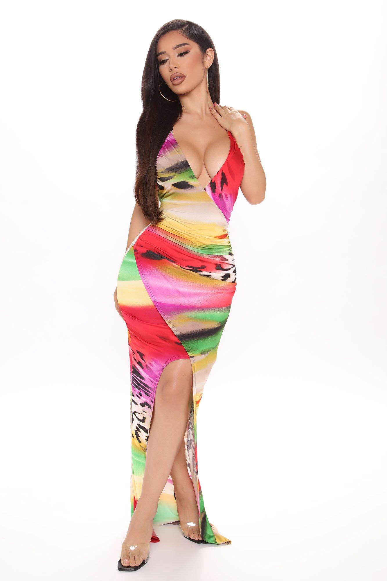 Robe longue Rise Up multicolore