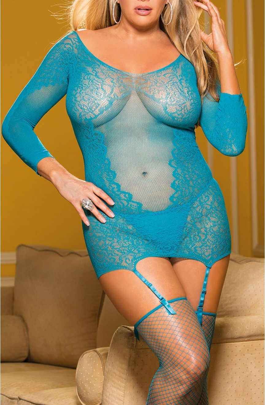 Ensemble lingerie Bleu - Grandes tailles - Shirley of Hollywood