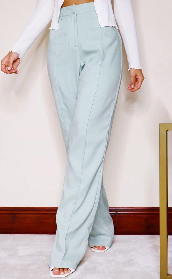 Pantalon ample droit - Vert sauge