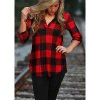 Chemise à carreaux Rouge/Noir