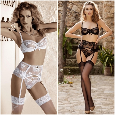 Ensemble lingerie EUTERPE - Roza