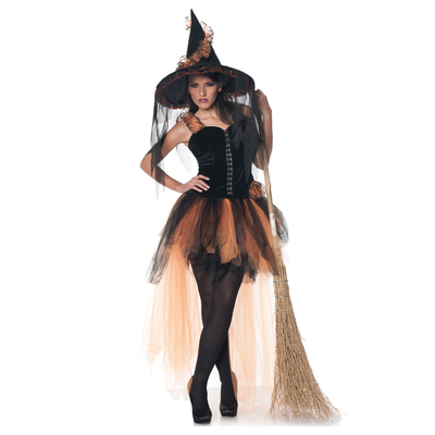 Déguisement sorcière Orange Halloween