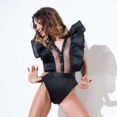 Body gogo clubwear à volants