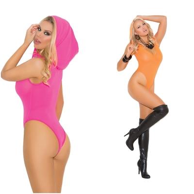 Body à capuche gogo clubwear fluo - Elegant Moments
