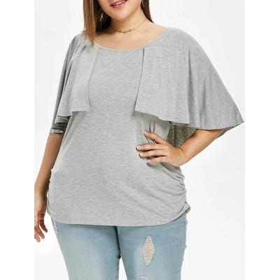 T-shirt à manches bouffantes - Gris Clair